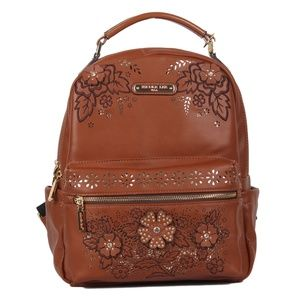 NICOLE LEE WESLEY FLORAL CUT OUT BACKPACK